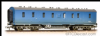 Bachmann 34-328A 50ft. Ex-LMS PIII Parcels Van BR Blue Weathered